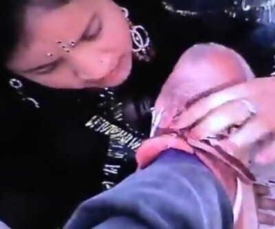 Desi Raand blowjob balls licking hindi