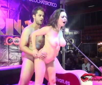 Fucked a Busty Exhibitionist in various Positions Live and in Public