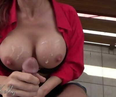 Exhibitionist Girl Loves to be Fucked on the Balcony. WetKelly