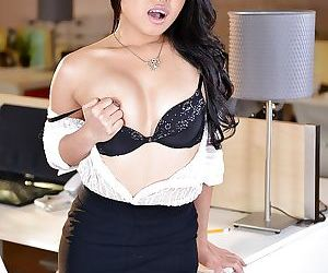 Asian secretary Cindy Starfall..