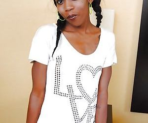 Naughty ebony cutie with pigtails..