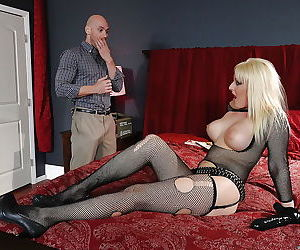 Teen blonde in stockings Tristyn..
