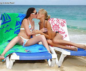 Sweet teenage lesbians playing..