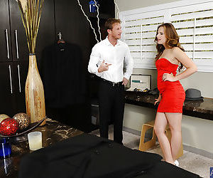Girl in red dress Jillian sucking..