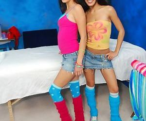 Petite teens in knee socks..