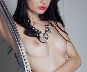 Skinny brunette babe Debora A..