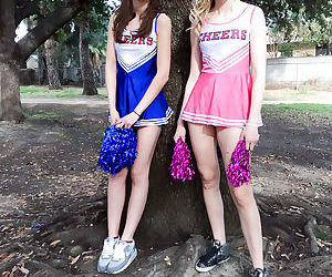 Cheerleaders Alexa Grace & Molly..