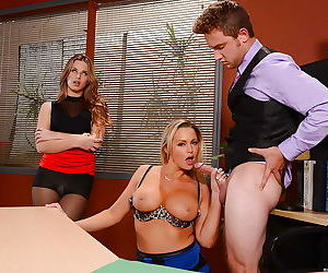 Office sluts Abbey Brooks and..