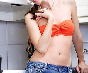 While in the kitchen amateur teen..