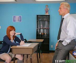 Redhead schoolgirl Sadie takes a..