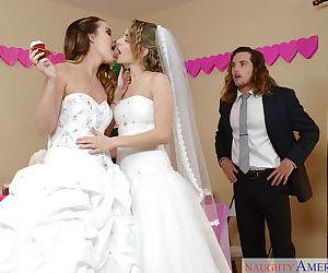 Teen pornstars Dillion Harper and..