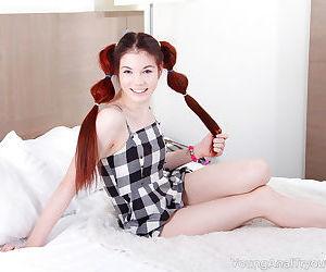 Adorable teen Loventa takes a..