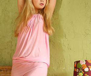 Sweet young Sylvia spreads naked..