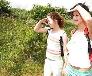 Beautiful natural lesbian teen..