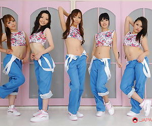 Asian jpop singers get completely..