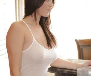 Hot brunette Holly Michaels finds..