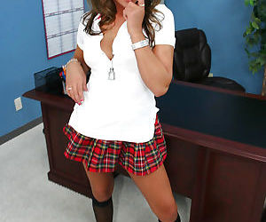 Schoolgirl teen Carmen gets..