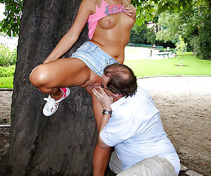 Loveable blonde teen with sweet..