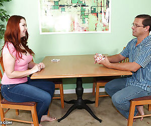 Filthy redhead teen milks a fat..