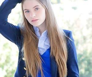 Long-haired teenage sweetie Alice..