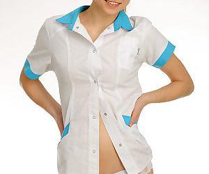 Brunette Nitsa A removes nurse..