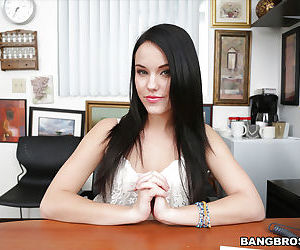 Teen secretary Megan Rain takes..