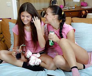 Lesbian teens Alana B & Zanna..