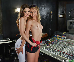 Teen girls undress each other in..
