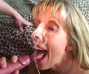 Petite MILF Gets Her Face Covered..