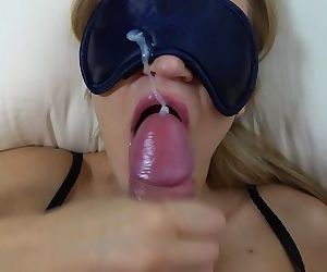 Teen step sister with blindfold..