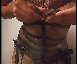 Lactating Ebony Fishnet Petite..
