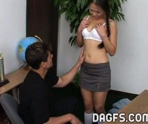 Asian petite is teached anal sex..