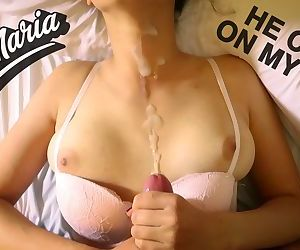 Giving a blowjob and handjob to..