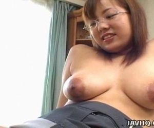 Busty Japanese babe fucked at..