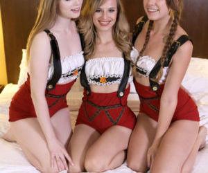 Little Swiss misses take turns..