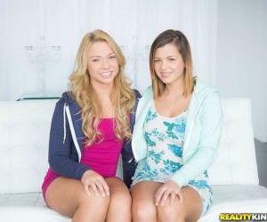 Coed lesbians Katerina Kay and..