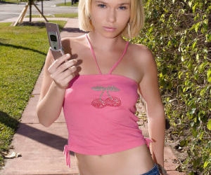 Angelic teen Ana Adams enjoys..