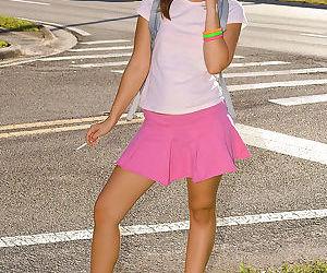 Cute young brunette Brooke Jean..