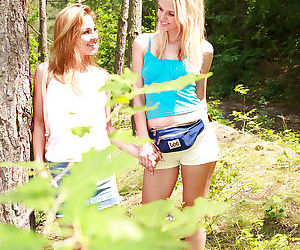 Outdoor lesbian sex features..