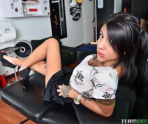 Latina cutie Mara baring nice ass..