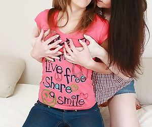 Salacious teenage lesbians toying..