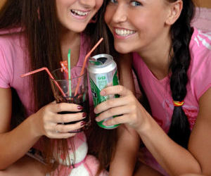 Brunette teens Vera and Eva..