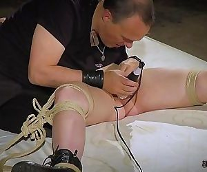 Bdsm and bondage sex with a..