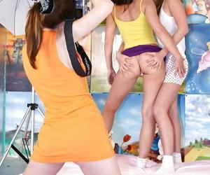 Lustful teenage models have some..