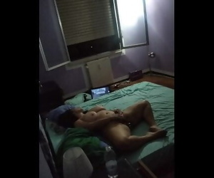 Spying my Wife Masturbating with..