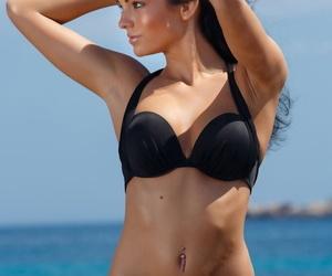 Euro brunette Sapphira A sunning..