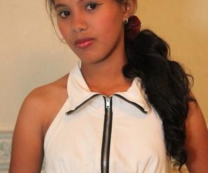 Young Filipino girl celebrates..