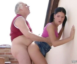 Older Man Fucking Younger Woman..