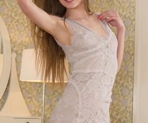 Nice teen girl with teeny tits..