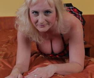 Busty older lady Monika Wipper..